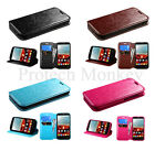 For Leather Flip Case Wallet Credit Card Slot Cell Phone Stand Cover + Stylus
