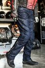 Motorcycle Riding Racing Trousers Pants Jeans Mesh D-Jeans Blue 005