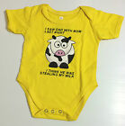 Brand New MILK STEAL COMEDY Costume Onesies Baby Jumper Shirt Sizes 0-18 m.o.