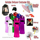 Satin Geisha Plus Size Halloween Costume Accessory Kit 1x...
