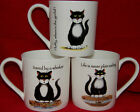 BN Boxed Funny Cat Fine Bone China One Pint Mug, Cartoon Cat Large China Mug