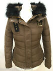 Zara Brown/mink Quilted Winter Jacket With Fur Hood Size Extra Large