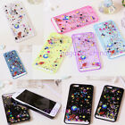 Liquid Glitter Water Sparkly Stars Quicksand Case Cover For iPhone5 5S /i6 4.7'