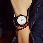 Couple Womens Mens Fashion Watch Faux Leather Analog Quartz Wristwatch Gift HOT
