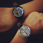 Unisex New Fashion Touch LED Watch Genuine Leather Waterproof Wristwatch