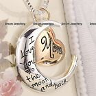 I love you to the moon and Back Necklace Locket Christmas Gift for Mother Mum
