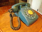 VINTAGE BLUE DESK TOP ROTARY PHONE