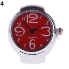 Girl Worship Unique Steel Round Dial Stylish Elastic Quartz Finger Ring Watch