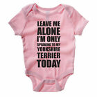 SPEAKING TO MY YORKSHIRE TERRIER - Dog / Pet / Gift / Novelty Themed Baby Grow