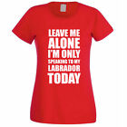 SPEAKING TO MY LABRADOR - Dog / Pet / Gift Idea / Funny Themed Women's T-Shirt