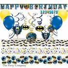 Batman Superhero Boys Birthday Party Decoration Kit Balloons Banner Confetti
