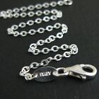 Sterling Silver Necklace - 2.3mm Strong Flat Cable Chain - All Sizes 7-36 Inches
