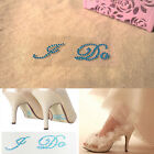 Blue I DO ME TOO Shoe Stickers Bridal Groom Wedding Day Decals Something Blue CN