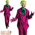 Deluxe Joker Grand Heritage Men's Villian Batman Adult Comic Halloween Costume