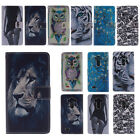 New Magnetic Painted Stand Leather Flip Wallet Case Cover For LG Mobile Phones