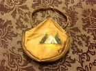 antique small child SOUVENIR  LEATHER PURSE Manitou Springs Colo painted teepee
