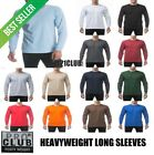 PRO CLUB HEAVYWEIGHT LONG SLEEVE T SHIRT ProClub Men Crewneck Big and Tall S-7XL