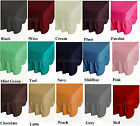 Plain Poly Cotton Fitted Valance Sheet Frilled Bed Sheet All Uk Sizes