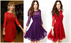 FRENCH CONNECTION  FCUK TAYLOR IRIS LACE SKATERDRESS EVENING PARRY DRESS SIZE 6