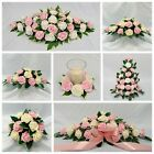 WEDDING FLOWERS TOP TABLE ARRANGEMENT CANDLE RING PACKAGE LIGHT PINK FOAM ROSES