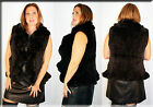 New Brown Sheared Rex Rabbit Fur Vest Sizes Small Medium Large Extra Large