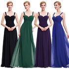 Size 4-18 Long Chiffon Bridesmaid Formal Evening Prom Dresses Wedding Party Gown