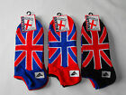 3pr Mens,Ladies,Boys Union Jack Trainer Sports Socks.Cotton Rich Size 4-8 & 6-11