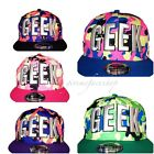 Geek fresh prince snapback caps, splash flat peak baseball hats fits kids &adult