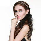 hiLISS Crystal Pearls Beads Headhand Hairband Hair Band Head Piece Lace Hair Tie