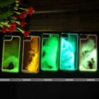 Glow in the Dark Fluorescent Luminous Quicksand Liquid Case For iPhone 5 5s 6 6s