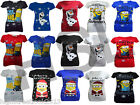 Womens Novelty Print Girls Christmas Vintage Retro Top T Shirt 26 8