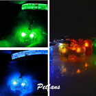 HOT Puppy Bone Flashing Glow Light Blinking LED Tags Collar Pendant Pet Dog Cats