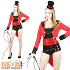 Sexy Ringmaster Ladies Circus Uniform Fancy Dress Lion Tamer Costume Outfit New