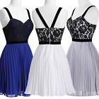 Womens Graduation Formal Evening Prom Short Mini Party Dress Size 8 10 12 14 16+