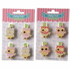 Owl Peg Cute Bird 4 Fun Craft Decor Pegs Height 3.5cm 2 Variations