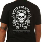 Steady Clothing Men's Built For Speed T-Shirt Rockabilly Skull Hot Rod Kustom