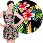 Hell Bunny Maui Hibiscus Mini Dress Rockabilly Pin Up Floral Retro Vintage