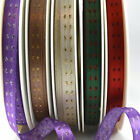 Woven Lurex Decorative Ribbon With Squares Pattern 10mm Wide - By The Metre