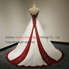 Real Photos Cheap Satin and White Wedding Dresses Bridal Gowns Stock Size 6-18++