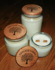 Cottage Farms Soywood Natural Soy Wax Crackling Double Wood Wooden Wick Candle