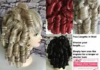 Double Volume Clip In Drawstring Curly Hairpiece Extension Ponytail Ringlets