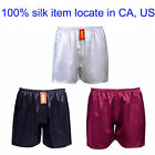 1pc Mens 19 Momme 100% Pure Silk Charmeuse Sport Gym Jogging Football Shorts
