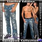 NEW JEANS FOR MEN 28 29 30 31 32 33 34 36 38 MEN'S CAMO DENIM PANTS CASUAL WEAR