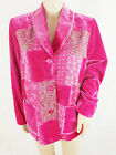 Women's Pink Velvet feel Hippy Funky Patchwork Jacket in UK Sizes 14 & 16