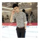 White Casual Mens Fashion Floral Stand Slim Fit Collar Suits Blazers Coats Ty745