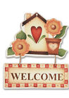 """Aracne Italy """"Banner in stile country, CUORE WELCOME"""""""