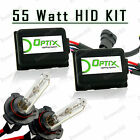 55W Slim HID Lights Xenon Head Light Kit Plug N Play Bulb Size - 9006 HB4 (B)