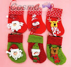 3pcs6pcs Xmas Tree Christmas Super Large Stockings Gift Hanging Decoration Socks