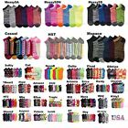 Men Women Crew Ankle Sports Socks Lot Multi Pattern Fashion Casual 9-11 Unisex
