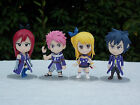 Fairy Tail Ver. Natsu Lucy Erza Gray Japanese Anime Figure Sets 7-8cm CHN Ver.
